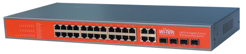24FE+4Combo Gigabit Switch with 24 af/at PoE 300W