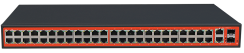 48FE+2 Combo Gigabit Switch with 48 af/at PoE 700W