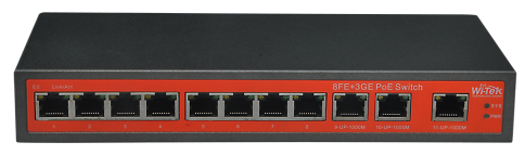 8GE+3GE Ports Switch with 8-Port 24V PoE 120W